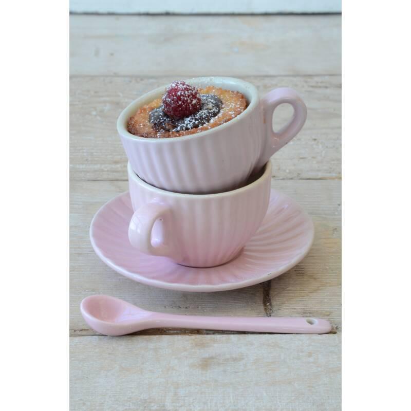 ib laursen mynte espressotasse mit unterteller rosa engl. Black Bedroom Furniture Sets. Home Design Ideas
