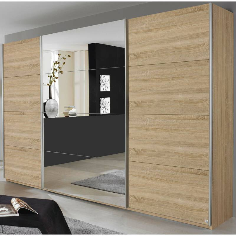 rauch schwebet renschrank quadra eiche sonoma spiegel 399 99. Black Bedroom Furniture Sets. Home Design Ideas