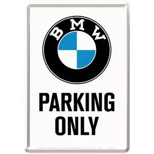 Nostalgic Art Blechpostkarte BMW - Parking Only White 10...