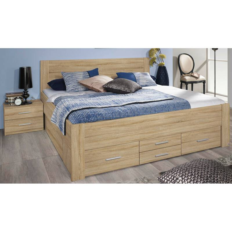 rauch bett mit 6 schubk sten isotta eiche sonoma 349 99. Black Bedroom Furniture Sets. Home Design Ideas