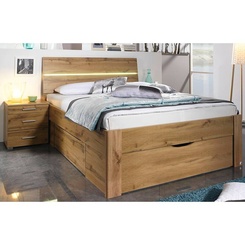 rauch bett scala mit 3 schubk sten in komforth he eiche wotan 3 kopf 279 99. Black Bedroom Furniture Sets. Home Design Ideas