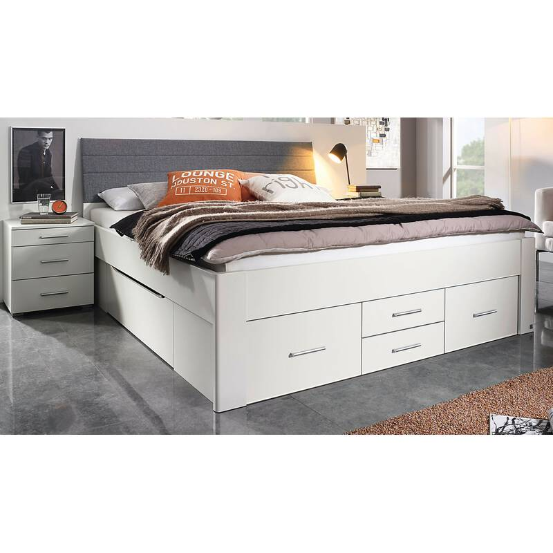 rauch bett scala mit 6 schubk sten in komforth he alpinwei 180 x 200 479 99. Black Bedroom Furniture Sets. Home Design Ideas