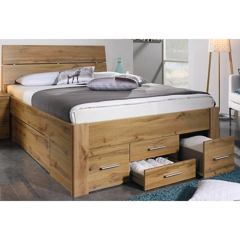 rauch bett scala mit 6 schubk sten in komforth he eiche wotan 3 kopf 319 99. Black Bedroom Furniture Sets. Home Design Ideas
