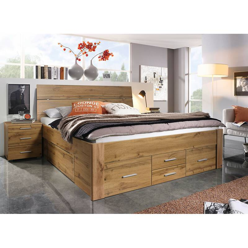 rauch bett scala mit 6 schubk sten in komforth he eiche. Black Bedroom Furniture Sets. Home Design Ideas