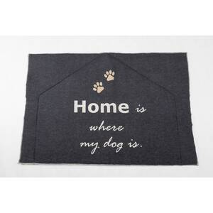 Fussenegger Hundematte gefüttert home is where my dog is 80/120 cm anthrazit