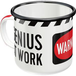Nostalgic Art Tasse mit Henkel aus Emaille Genius At Work