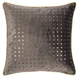 Pad Bivio Kissenhülle 40 X 40 Cm Grau Gold Gepunktet 2690