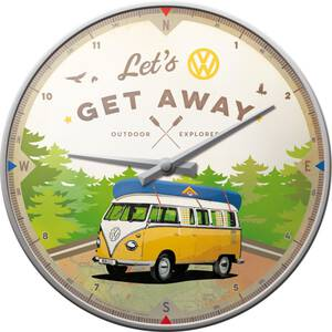 Nostalgic Art Wanduhr VW Bulli - Let´s Get Away 31 cm