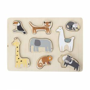 Bloomingville Mini Holz-Puzzle Tiere