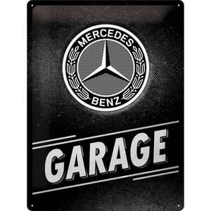 Nostalgic Art Blechschild Mercedes Benz - Garage 30 x 40 cm