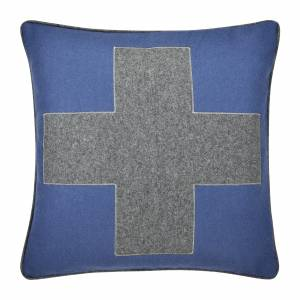 Pad CROSS Kissenhülle 45 x 45 cm blau