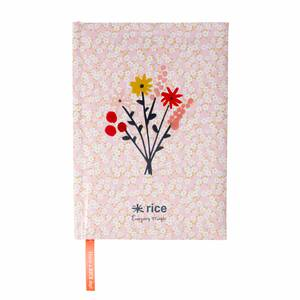 Rice Notizbuch A5 Pink Floral