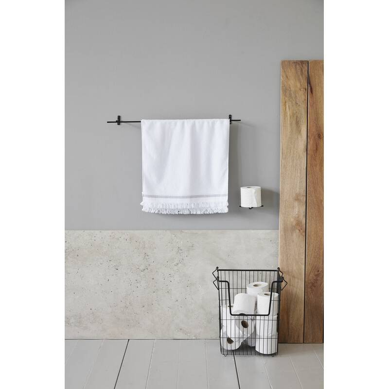 House Doctor Garderobenleiste Handtuchhalter schwarz 70 cm
