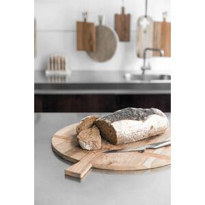 HK living Brotbrett rund Medium aus Teakholz