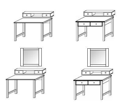 rauch select schminktisch marit alpinwei 299 99. Black Bedroom Furniture Sets. Home Design Ideas