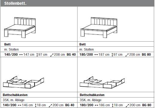 Bett strichzeichnung  Rauch Select Funktionsbett
