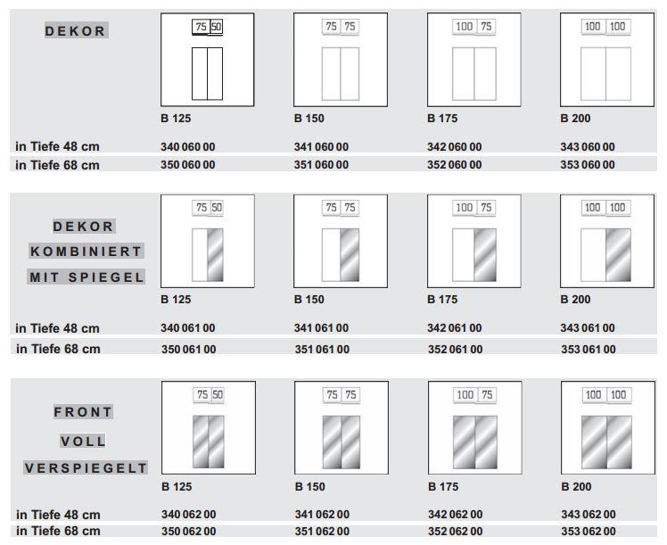 express m bel schranksystem mit schwebet renschrank tiefe 48 cm 68 cm 4 breiten ebay. Black Bedroom Furniture Sets. Home Design Ideas